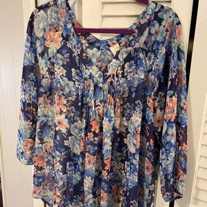 LC Lauren Conrad flower blouse